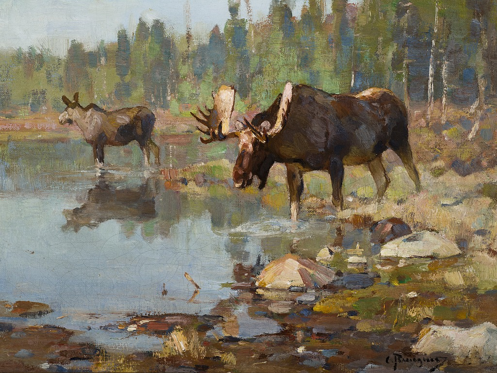 Jackson Hole Art Auction Feeding Time